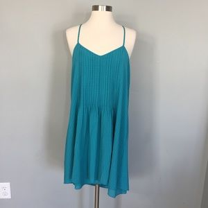 Sanctuary Blue Textured Swing Dress